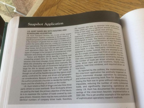 "Our research focused in an ""Application Spotlight"" in the 2015 Production and Operations Analysis textbook."