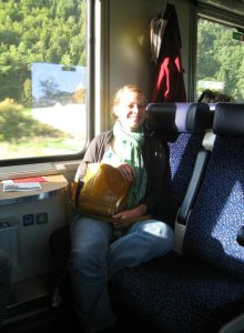 One of my favorite things about Austria is their great public transportation.  I got around Graz with a tram ticket and a bicycle.  It was great.