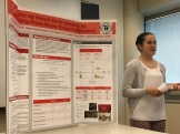 Joan Climes presented her work at the Undergraduate Research Symposium