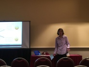 Rosemonde Ausseil presenting about resource allocation in platform systems